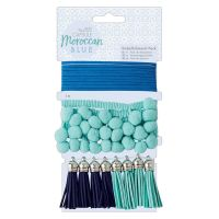Embellishments Pack (10pcs) - Capsule - Moroccan Blue