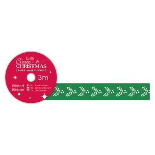 Printed Ribbon (3m) - Holly