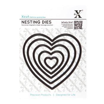 Xcut Dies Nesting Dies Heart (5pcs)
