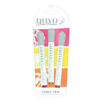 Ember Glow - Glitter Marker set by Nuvo