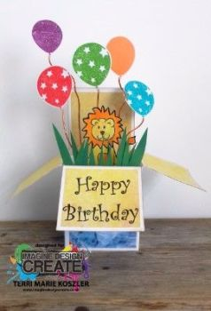 lion pop up box card 3