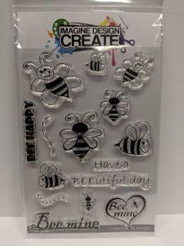BEE Happy: IDC0128 -A6 stamp set