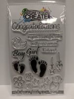 Welcome Baby: IDC0132 A6 stamp set
