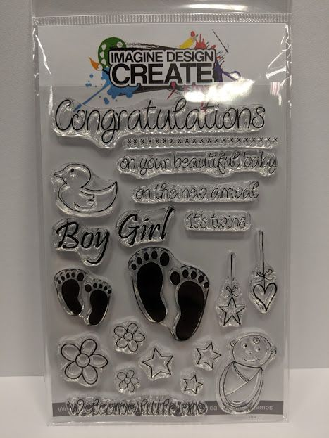 Welcome Baby A6 stamp set
