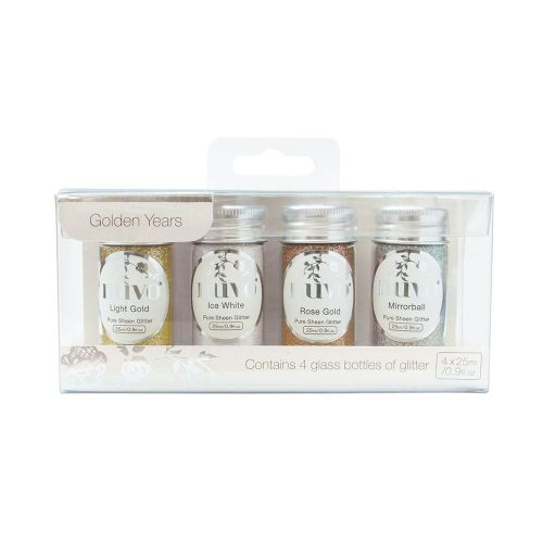 Nuvo - Pure Sheen Glitter 4 Pack - Golden Years Glitter