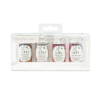 Nuvo - Pure Sheen 4 Pack - Cross My Heart Confetti