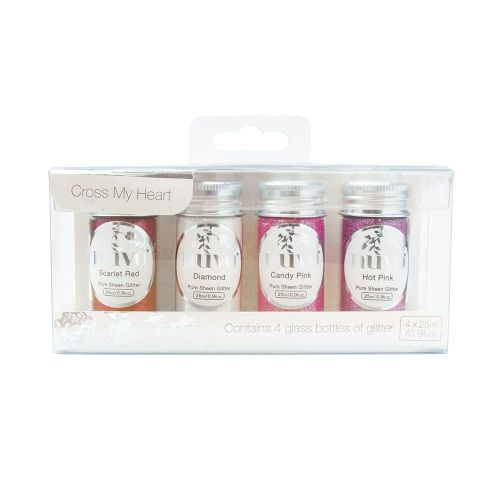 Nuvo - Pure Sheen 4 Pack - Cross My Heart Glitter
