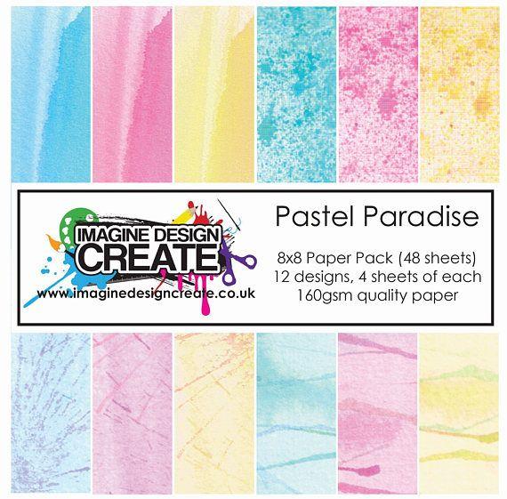 Pastel Paradise 8x8 Paper Pack