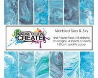 Marbled Sea & Sky 7x7 Paper Pack