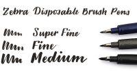 Brush Pen - Extra Fine / Super Fine - by Zebra