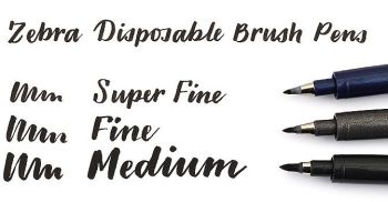 Brush Pen - Extra Fine / Super Fine - by Zebra