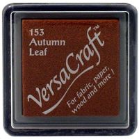Versacraft Small Fabric Ink Pad for Stamps - Autumn Leaf 153