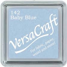 Versacraft Small Fabric Ink Pad for Stamps - Baby Blue 142