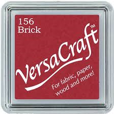 Versacraft Small Fabric Ink Pad for Stamps - Brick 156