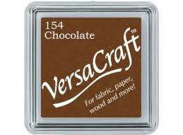 Versacraft Small Fabric Ink Pad for Stamps - Chocolate 154
