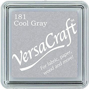 Versacraft Small Fabric Ink Pad for Stamps - Cool Gray 181