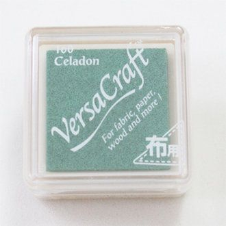 Versacraft Small Fabric Ink Pad for Stamps - Celadon 160