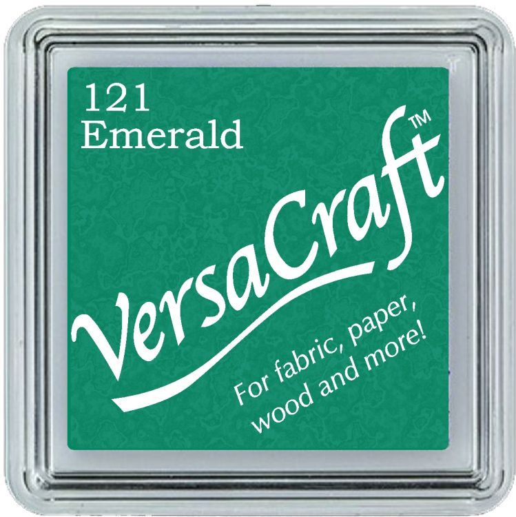 Versacraft Small Fabric Ink Pad for Stamps - Emerald 121