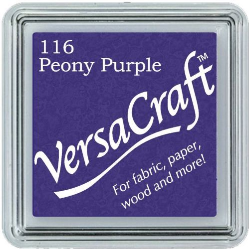 Versacraft Small Fabric Ink Pad for Stamps - Peony Purple 116