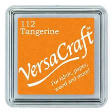 Versacraft Small Fabric Ink Pad for Stamps - Tangerine 112