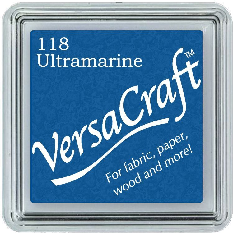 Versacraft Small Fabric Ink Pad for Stamps - Ultramarine 118