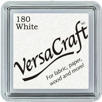 Versacraft Small Fabric Ink Pad for Stamps - White 180