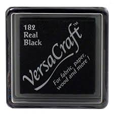 Versacraft Small Fabric Ink Pad for Stamps - Real Black