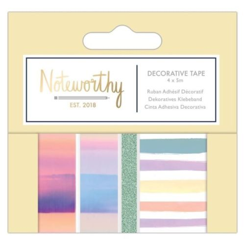 Decorative craft tape (4x5m) - Pastel Hues