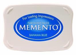 Memento Dye Ink Pad - Bahama Blue