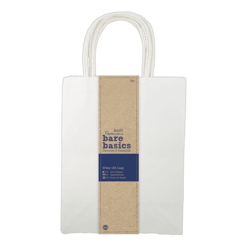 White Gift Bags (5pk) - Large