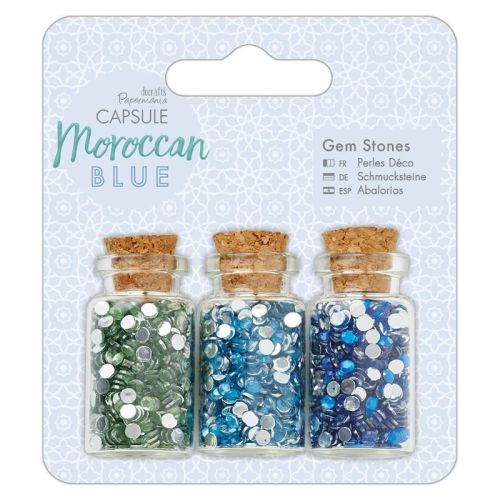 Gem Bottles (3pcs) - Capsule - Moroccan Blue