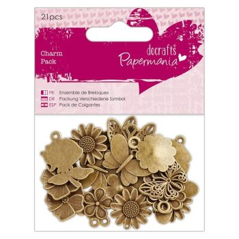 Charm Pack (21pcs) - Papermania - Flowers & Butterflies