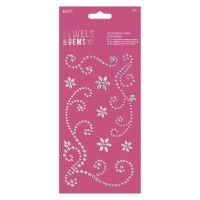 Flourish Gem Stickers (8pcs) - Jewels & Gems