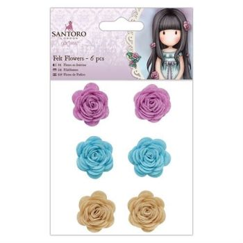 Felt Flowers by Santoro at Docrafts (6pcs)
