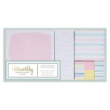 Sticky Notes Set - Pastel Hues