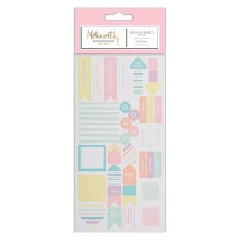 Sticker Sheet (29pcs) - Pastel Hues