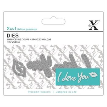 Mini Sentiment Die (3pcs) - I Love You
