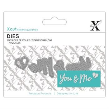 Mini Sentiment Die (3pcs) - You & Me