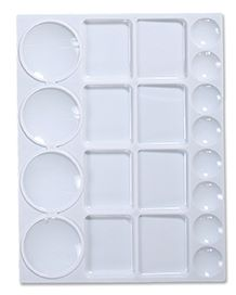 Plastic rectangular 20 well palette