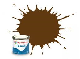 Humbrol 10 Service Brown Gloss - 14ml Enamel Paint
