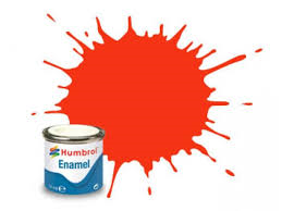 Humbrol 18 Orange Gloss -14ml Enamel Paint
