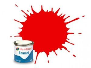 Humbrol 19 Bright Red Gloss - 14ml Enamel Paint