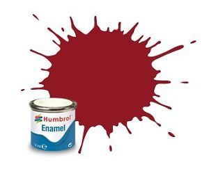 Humbrol 20 Crimson Gloss - 14ml Enamel Paint