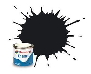 Humbrol 33 Black Matt - 14ml Enamel Paint