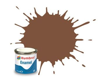 Humbrol 186 Brown Matt - 14ml Enamel Paint