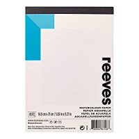 REEVES A5 GUMMED 190gsm 12 SHT WATERCOLOUR PAD
