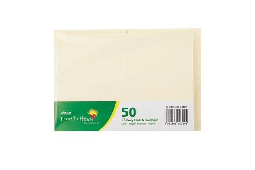 Creative House C6 Cream Card and Envelope 50 Pack