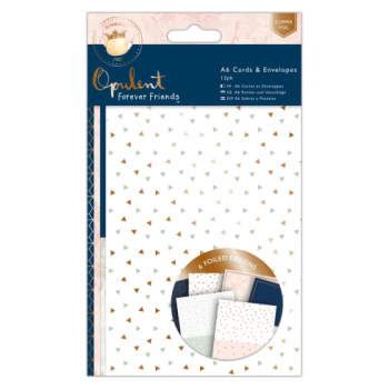 A6 Cards and Envelopes 12pk - Forever Friends - Oppulent