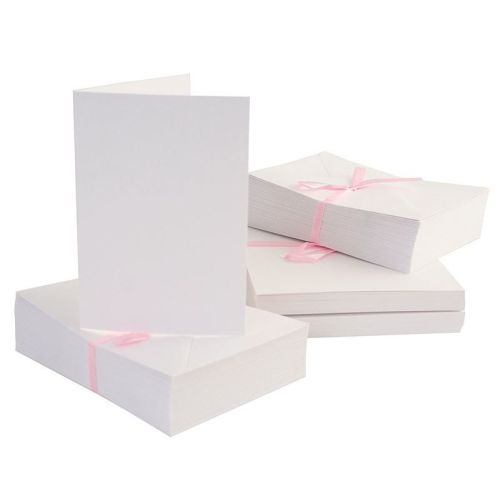 Docrafts Anita's A6 Quality White Cards and Envelopes 100pk