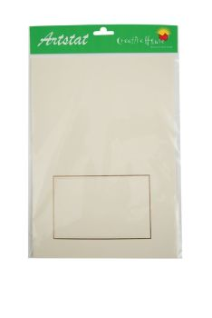 Creative House C6 Ivory Rectangle Aperture 10 pack blank cards & envelopes.